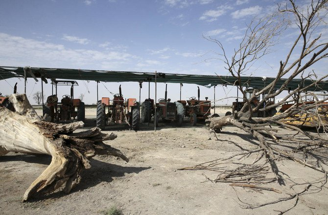 Farmers in central Iran are increasingly turning to protests, pleading to authorities for a solution as years of drought and government mismanagement of water destroy their livelihoods. (AP/Vahid Salemi)