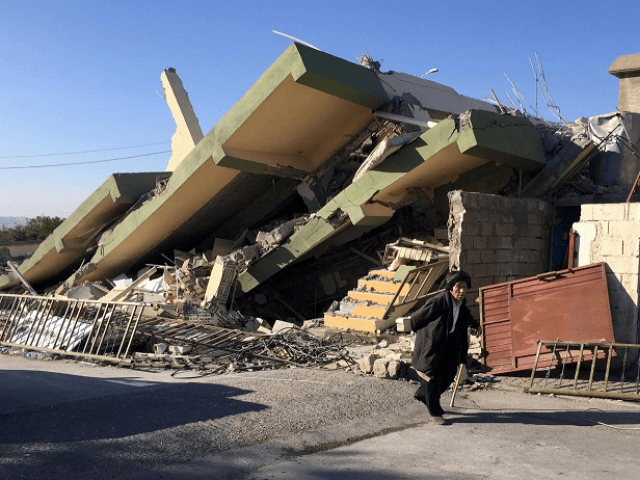 A magnitude 5.9 earthquake struck near the Iranian city of Kermanshah. PHOTO: REUTERS