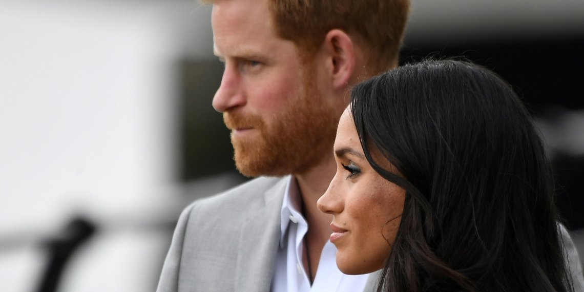 FILE PHOTO: Britain's Prince Harry and Meghan, the Duchess of Sussex (UNSEEN), visit the Famine Memorial in Dublin, Ireland, July 11, 2018. REUTERS/Cathal McNaughton/File Photo