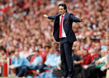 Soccer Football - Premier League - Arsenal v Manchester City - Emirates Stadium, London, Britain - August 12, 2018 Arsenal manager Unai Emery Action Images via Reuters/John Sibley