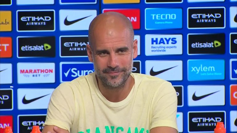 Manchester City manager Pep Guardiola responds to Jurgen Klopp's claim that his club are the favourites to win the league
