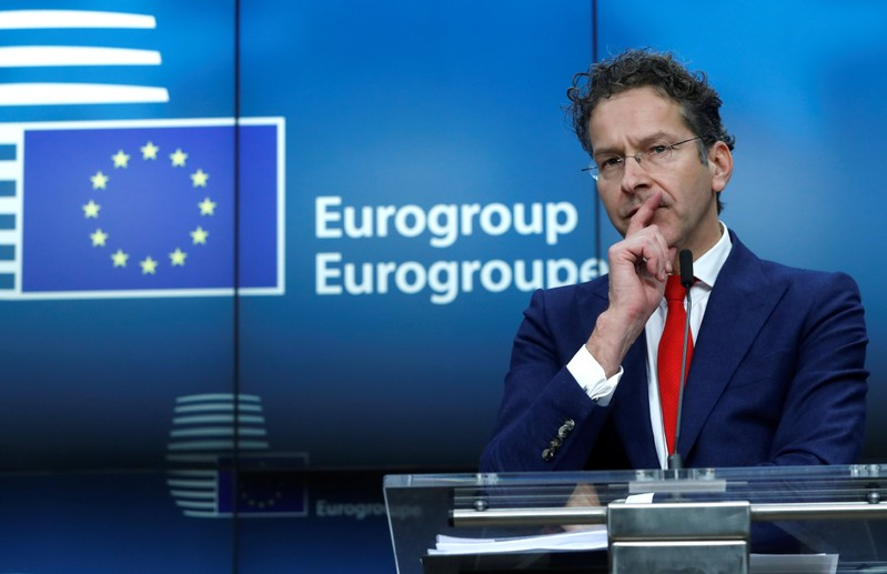 Outgoing Eurogroup President Jeroen Dijsselbloem gestures as he holds a news conference at the European Council headquarters in Brussels, Belgium, December 4, 2017. REUTERS/Yves Herman