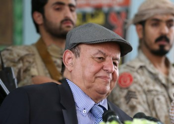 FILE PHOTO: Yemen's President Abd-Rabbu Mansour Hadi attends a meeting with local officials during a visit to the coutry's northern province of Marib July 10, 2016. REUTERS/ Ali Owidha