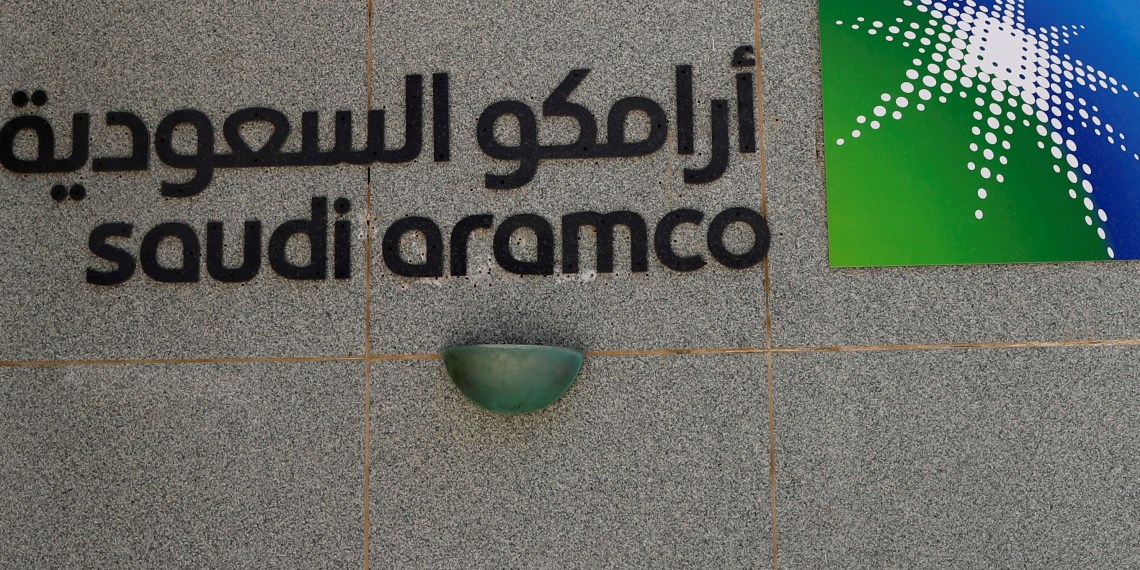 The logo of Saudi Aramco is seen at Aramco headquarters in Dhahran, Saudi Arabia May 23, 2018. REUTERS/Ahmed Jadallah