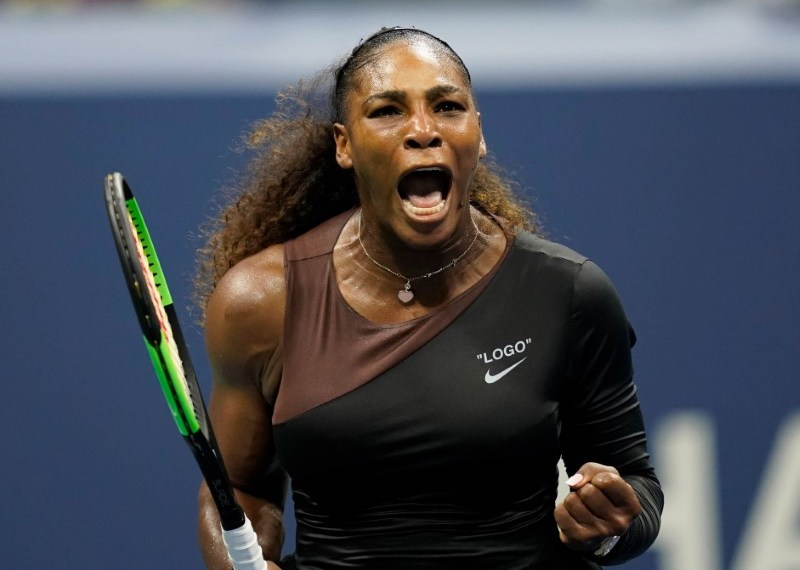 Sept 4 2018; New York, NY, USA; Serena Williams of the USA reacts after winning a game in the second set against Karolina Pliskova of the Czech Republic in a quarterfinal match on day nine of the 2018 U.S. Open tennis tournament at USTA Billie Jean King National Tennis Center. Robert Deutsch-USA TODAY Sports
