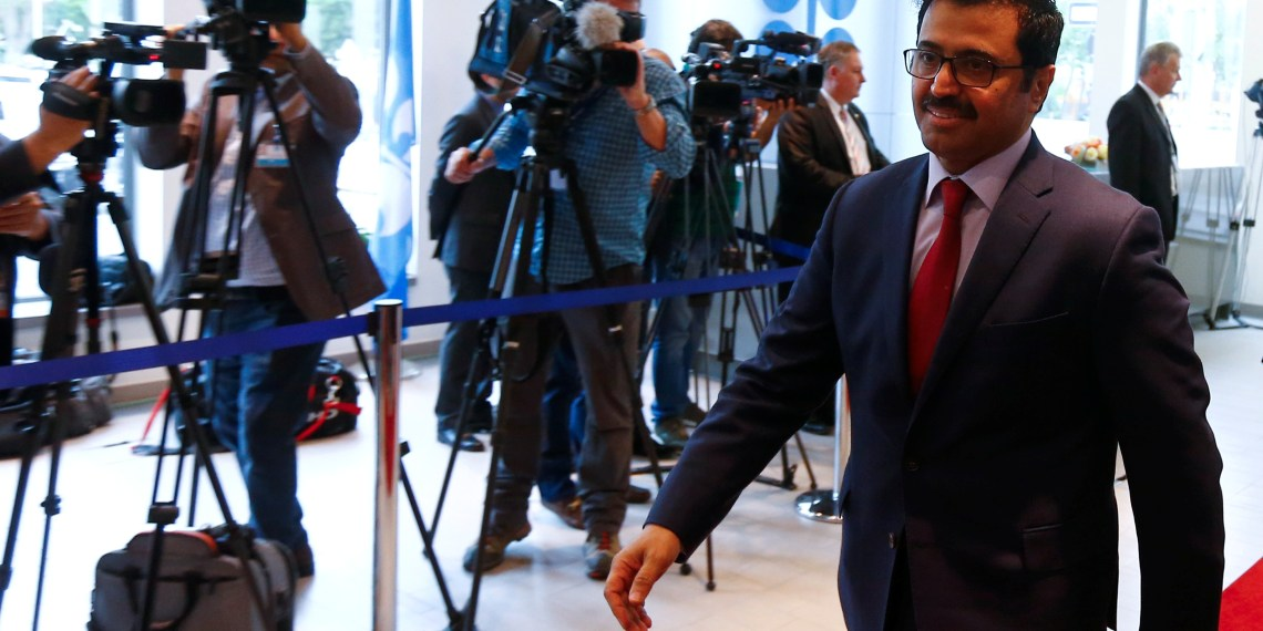 FILE PHOTO: Qatar's Energy Minister Mohammed bin Saleh al-Sada arrives for a meeting of the Organization of the Petroleum Exporting Countries (OPEC) in Vienna, Austria, May 25, 2017. REUTERS/Leonhard Foeger