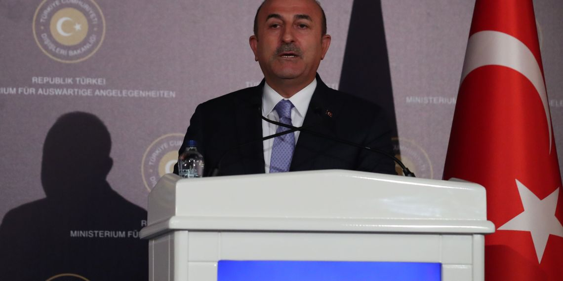 FILE PHOTO - Turkish Foreign Minister Mevlut Cavusoglu speaks during a news conference in Ankara, Turkey September 5, 2018. REUTERS/Umit Bektas