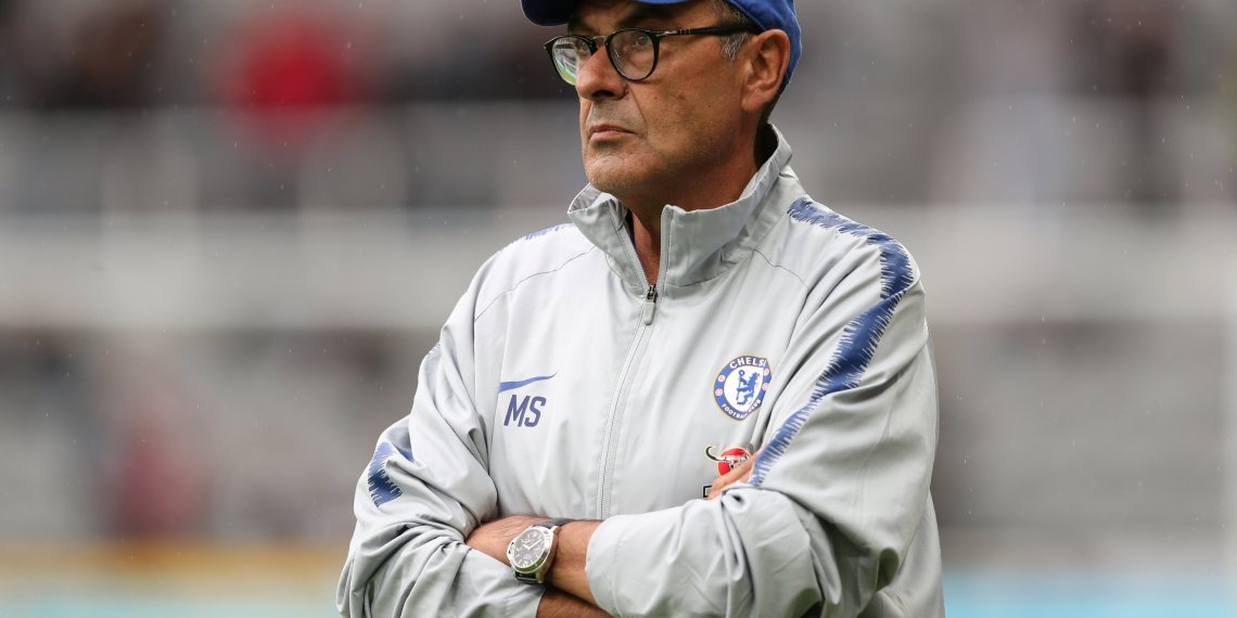 Soccer Football - Premier League - Newcastle United v Chelsea - St James' Park, Newcastle, Britain - August 26, 2018 Chelsea manager Maurizio Sarri before the match REUTERS/Scott Heppell