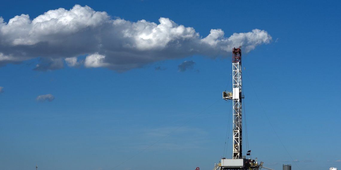 A horizontal drilling rig on a lease owned by Parsley Energy operates in the Permian Basin near Midland, Texas U.S. August 23, 2018. Picture taken August 23, 2018. REUTERS/Nick Oxford