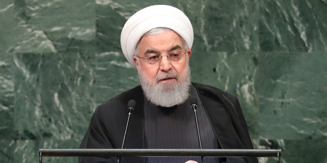 Iran's President Hassan Rouhani addresses the 73rd session of the United Nations General Assembly at U.N. headquarters in New York, U.S., September 25, 2018. REUTERS/Carlo Allegri