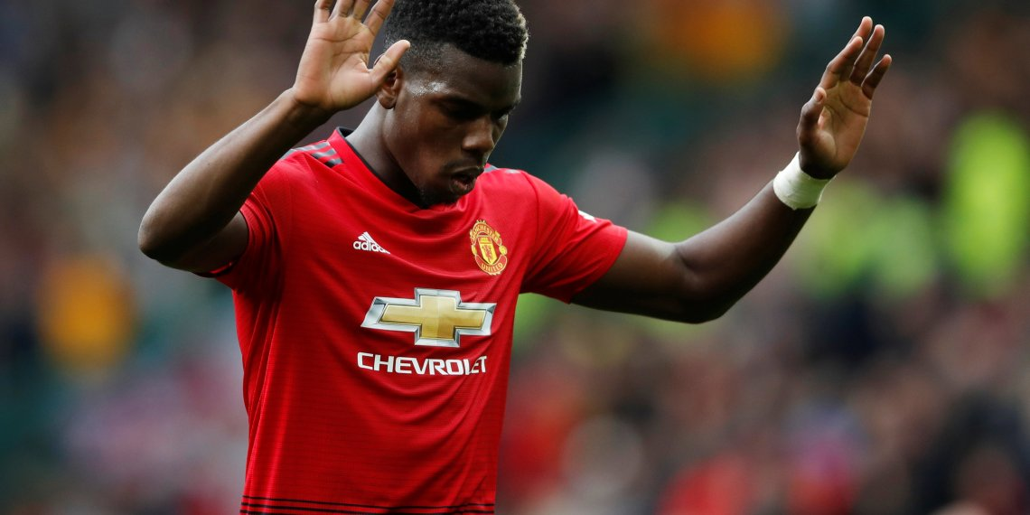 Soccer Football - Premier League - Manchester United v Wolverhampton Wanderers - Old Trafford, Manchester, Britain - September 22, 2018 Manchester United's Paul Pogba reacts after the match Action Images via Reuters/Carl Recine