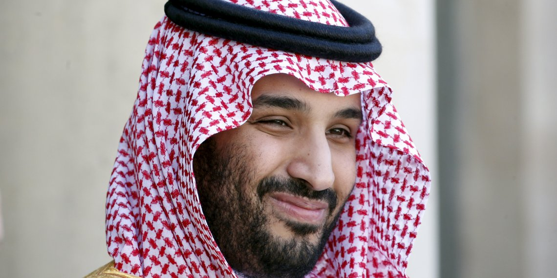 FILE PHOTO: Saudi Arabia's Deputy Crown Prince Mohammed bin Salman reacts upon his arrival at the Elysee Palace in Paris, France, June 24, 2015. REUTERS/Charles Platiau/File Photo