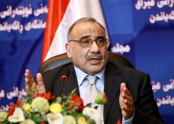 FILE PHOTO: Iraq's Shi'ite Vice President Adel Abdul-Mahdi speaks during a news conference at the Iraqi parliament headquarters in Baghdad September 7, 2010. REUTERS/Thaier al-Sudani/File Photo