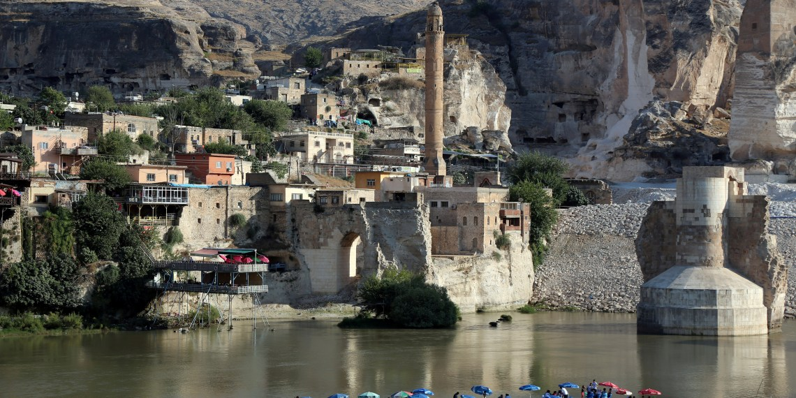 FILE PHOTO: A general view of the ancient town of Hasankeyf by the Tigris river, which will be significantly submerged by the Ilisu dam being constructed, in southeastern Turkey, August 26, 2018. REUTERS/Sertac Kayar