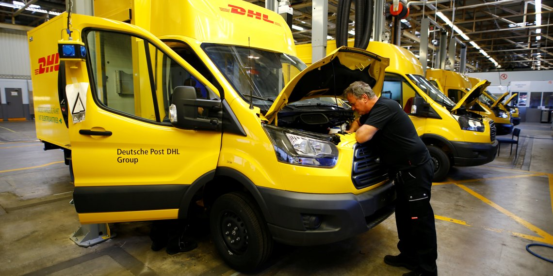 A worker of Ford Germany checks a Streetscooter WORK XL electric van based on a Ford Transit at Ford's new manufacturing line in Cologne, Germany October 9, 2018. REUTERS/Wolfgang Rattay