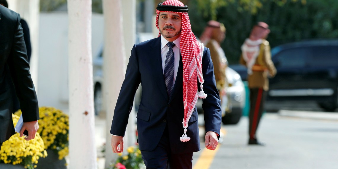 FILE PHOTO: Jordan's Prince Ali Bin Al Hussein arrives to attend the opening ceremony of the first ordinary session of 18th Parliament in Amman, Jordan November 7, 2016. REUTERS/Muhammad Hamed