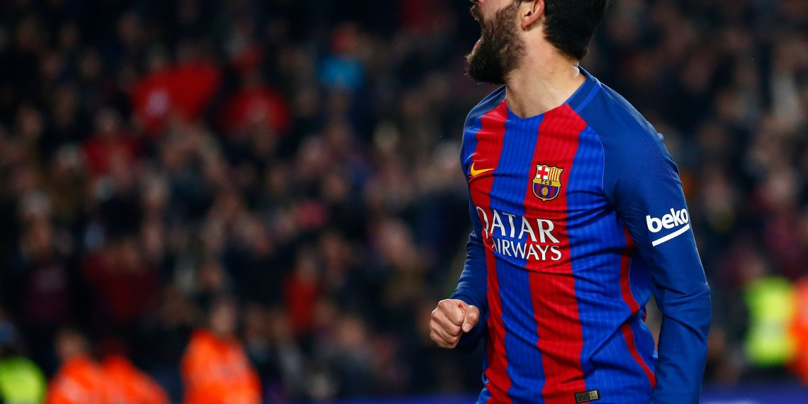 Football Soccer - Barcelona v Real Sociedad - Spanish King's Cup - Camp Nou Stadium, Barcelona Spain - 26/01/17 Barcelona's Arda Turan celebrates after scoring their fourth goal of the match. REUTERS/Juan Medina