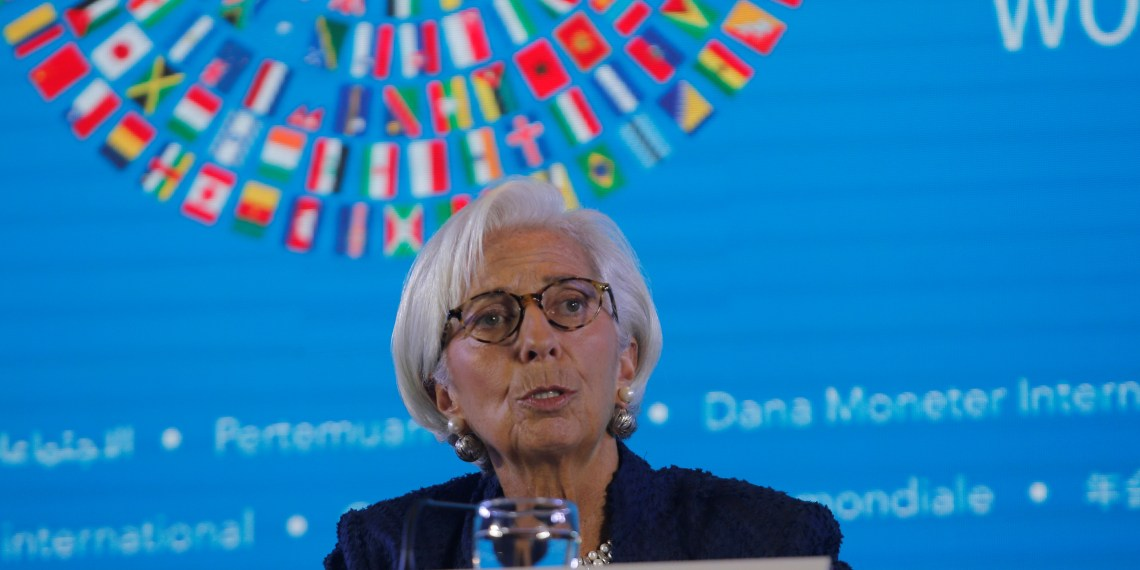 IMF Managing Director Christine Lagarde speaks during International Monetary Fund - World Bank Annual Meeting 2018 in Nusa Dua, Bali, Indonesia, October 11, 2018. REUTERS/Johannes P. Christo