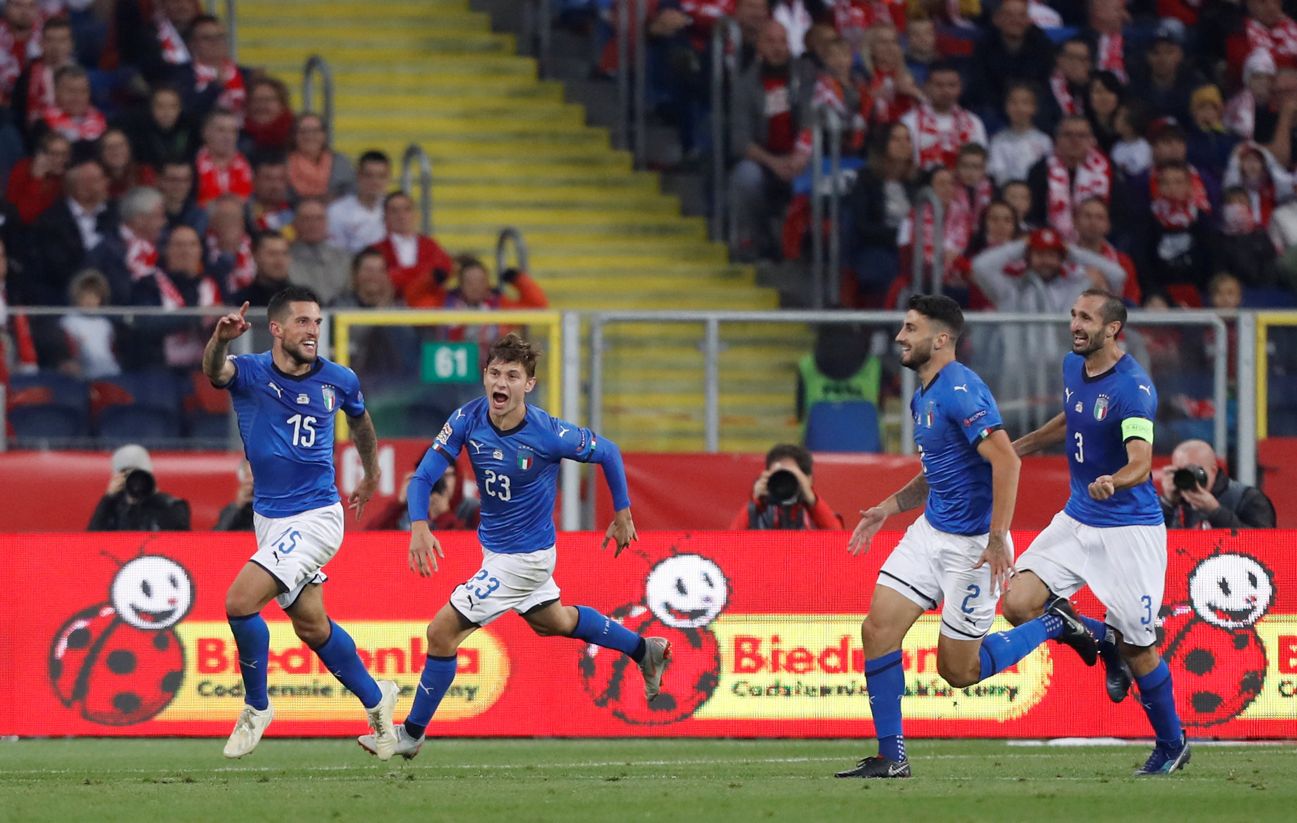 Biraghi gives Italy stoppage-time win in Poland - Middle