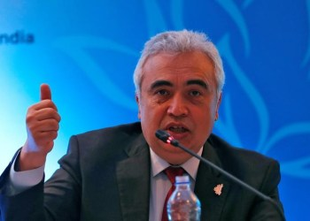 FILE PHOTO: Fatih Birol, Executive Director of the International Energy Agency, speaks with the media during the International Energy Forum (IEF) in New Delhi, India, April 11, 2018. REUTERS/Altaf Hussain