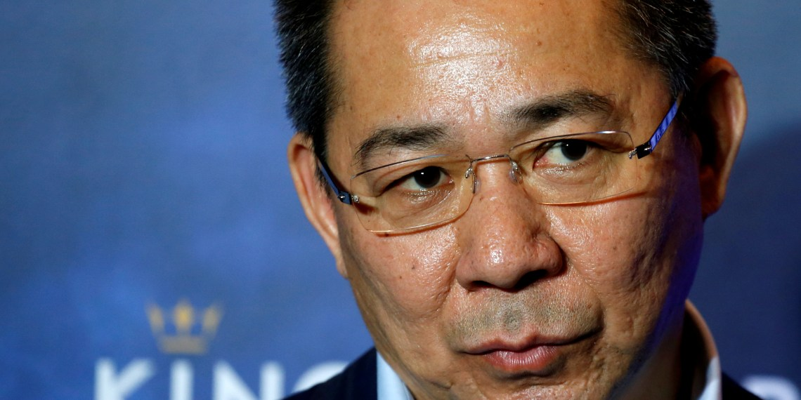 FILE PHOTO - Vichai Srivaddhanaprabha, owner of football club Leicester City attends a meeting with the media in Bangkok, Thailand May 18, 2016. REUTERS/Jorge Silva/File Photo
