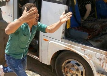 The attack on the bus took place near a monastery. (Egypt's Coptic Orthodox Church via AP)