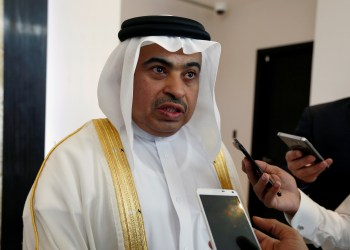 FILE PHOTO: Qatar National Bank group chief executive Ali Ahmed al-Kuwari speaks to reporters during the inauguration of QNB's branch in Riyadh, Saudi Arabia, May 4, 2017. REUTERS/Faisal Al Nasser