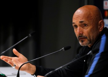 Soccer Football - Champions League - Inter Milan Press Conference - San Siro, Milan, Italy - November 5, 2018 Inter Milan coach Luciano Spalletti during a press conference REUTERS/Stefano Rellandini