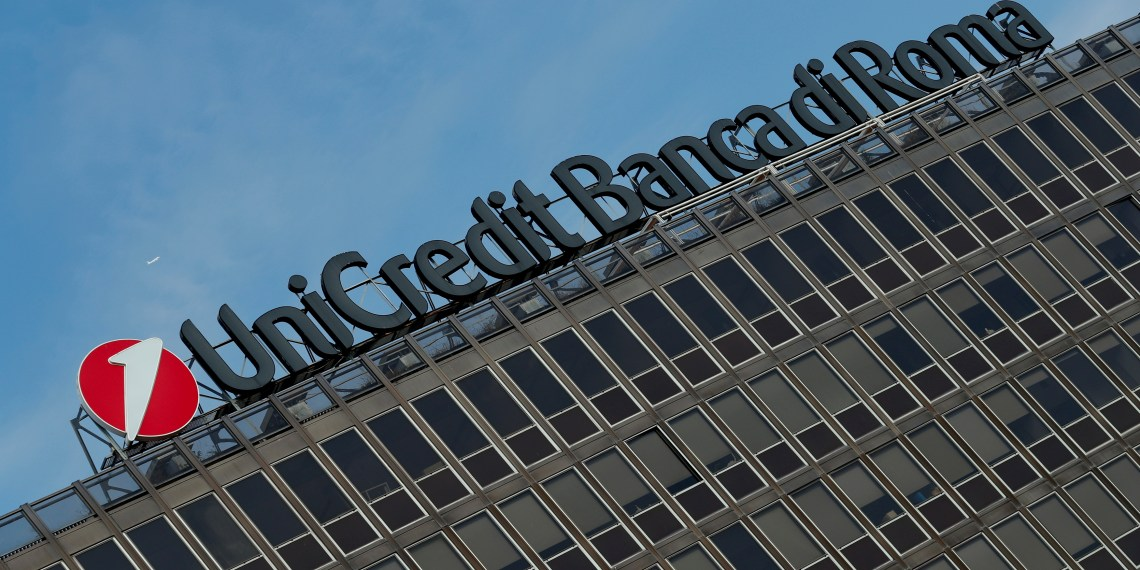 FILE PHOTO: The UniCredit-Banca di Roma bank headquarters is seen in Rome, Italy September 30, 2018. REUTERS/Alessandro Bianchi