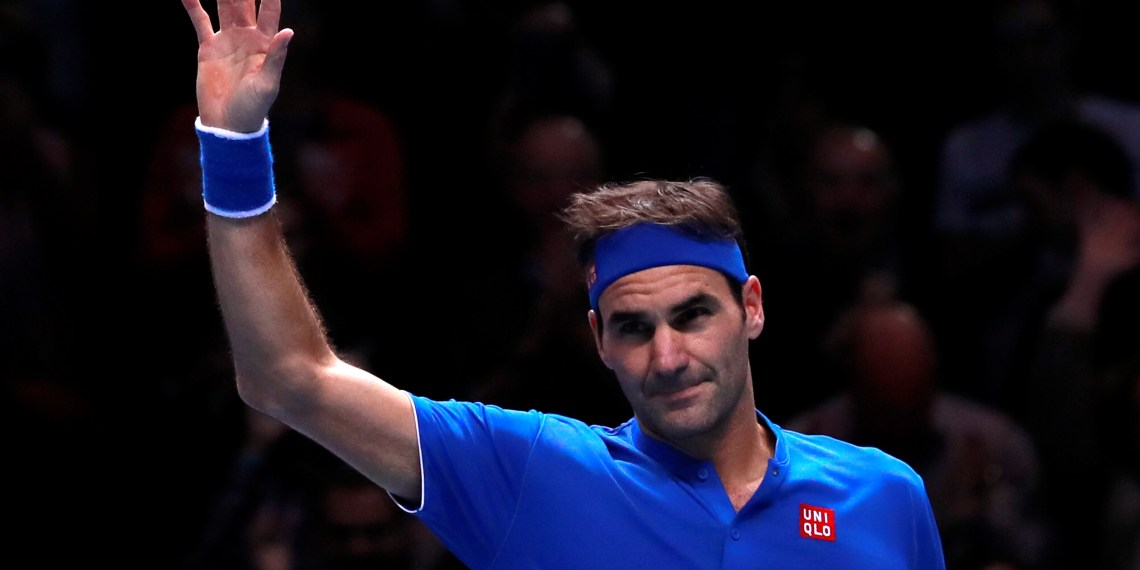 Tennis - ATP Finals - The O2, London, Britain - November 13, 2018 Switzerland's Roger Federer celebrates winning his group stage match against Austria's Dominic Thiem Action Images via Reuters/Andrew Couldridge