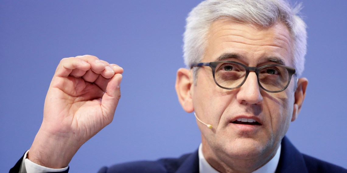 FILE PHOTO: Chief Executive Ulrich Spiesshofer of Swiss power technology and automation group ABB, Zurich, Switzerland, February 8, 2018. REUTERS/Moritz Hager/File Photo