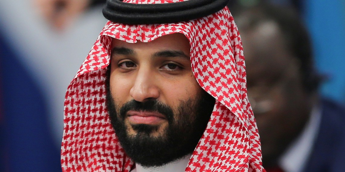 Saudi Arabia's Crown Prince Mohammed bin Salman attends the opening of the G20 leaders summit in Buenos Aires, Argentina November 30, 2018. REUTERS/Sergio Moraes
