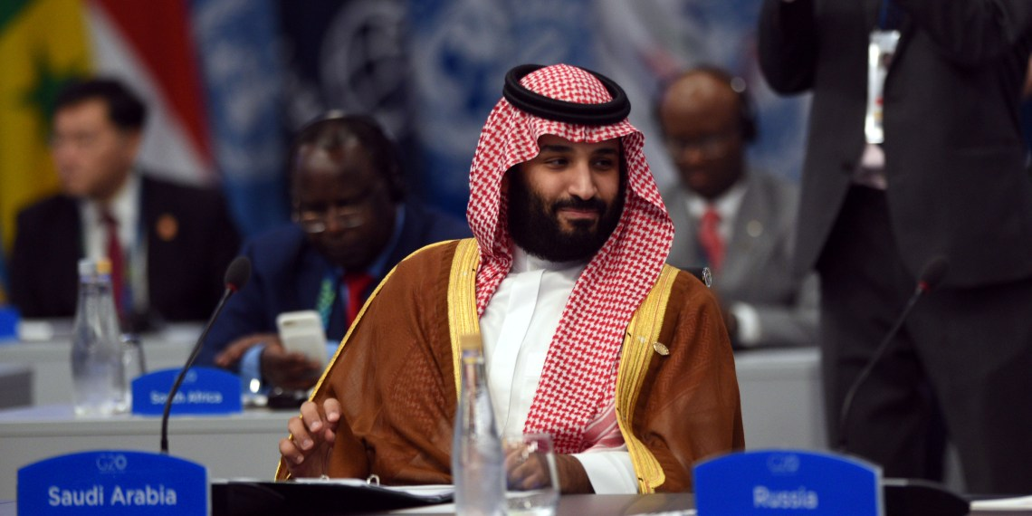 Saudi Arabia's Crown Prince Mohammed bin Salman attends the plenary session at the G20 leaders summit in Buenos Aires, Argentina December 1, 2018. G20 Argentina/Handout via REUTERS ATTENTION EDITORS - THIS IMAGE WAS PROVIDED BY A THIRD PARTY.