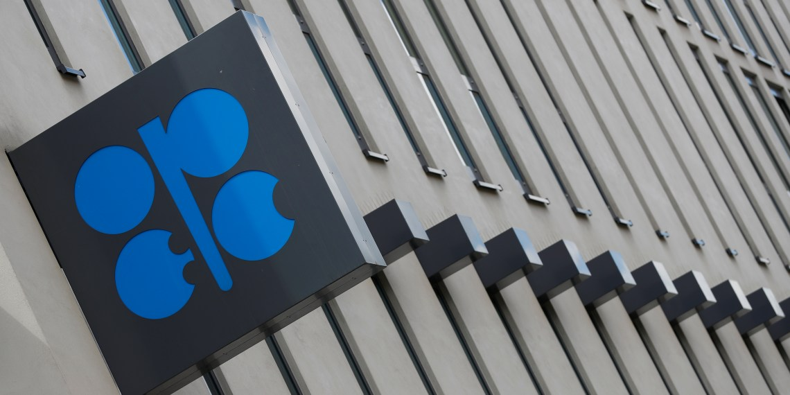 FILE PHOTO: The logo of the Organization of the Petroleoum Exporting Countries (OPEC) is seen at OPEC's headquarters in Vienna, Austria June 19, 2018. REUTERS/Leonhard Foeger