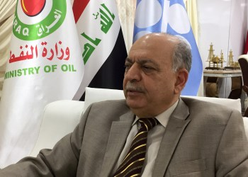 FILE PHOTO: Iraq's oil minister Thamer Ghadhban speaks during an interview with Reuters at the oil ministry in Baghdad, Iraq November 6, 2018. REUTERS/John Davison