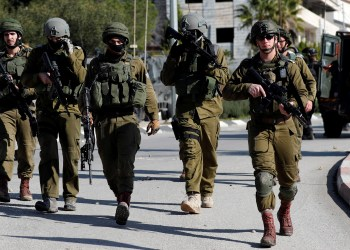 Israeli soldiers walk during clashes with Palestinians in Ramallah in the occupied West Bank December 10, 2018. REUTERS/Mohamad Torokman
