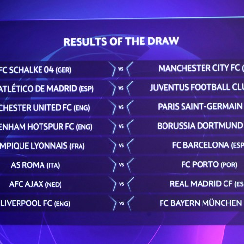 Uefa Champions League Round Of Sixteen Draw Results Middle East