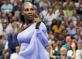 FILE PHOTO: Sept 6 2018; New York, NY, USA; Serena Williams of the United States celebrates match point against Anastasija Sevastova of Latvia in a semi-final match on day eleven of the 2018 U.S. Open tennis tournament at USTA Billie Jean King National Tennis Center. Mandatory Credit: Robert Deutsch-USA TODAY Sports