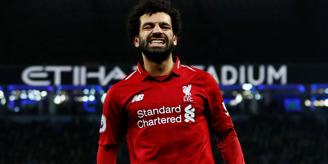 Soccer Football - Premier League - Manchester City v Liverpool - Etihad Stadium, Manchester, Britain - January 3, 2019 Liverpool's Mohamed Salah reacts Action Images via Reuters/Jason Cairnduff