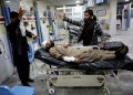 An Afghan injured man receives treatment at a hospital after a car bomb blast in Kabul, Afghanistan January 14, 2019. REUTERS/Omar Sobhani