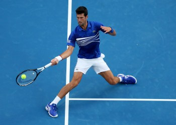 Tennis - Australian Open - First Round - Melbourne Park, Melbourne, Australia, January 15, 2019. Serbia's Novak Djokovic in action during the match against Mitchell Krueger of the U.S. REUTERS/Lucy Nicholson