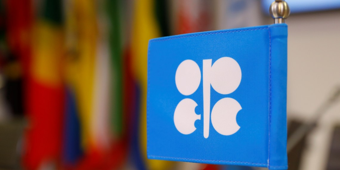 FILE PHOTO: The logo of the Organization of the Petroleum Exporting Countries (OPEC) is seen inside their headquarters in Vienna, Austria December 7, 2018. REUTERS/Leonhard Foeger