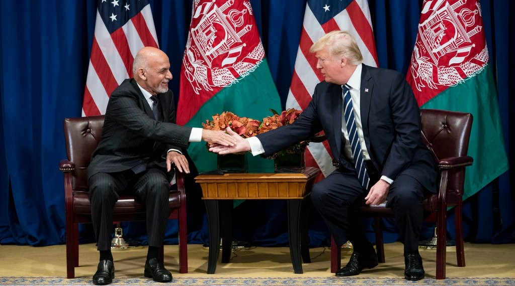 President Trump with President Ashraf Ghani of Afghanistan in New York in 2017.CreditCreditDoug Mills/The New York Times