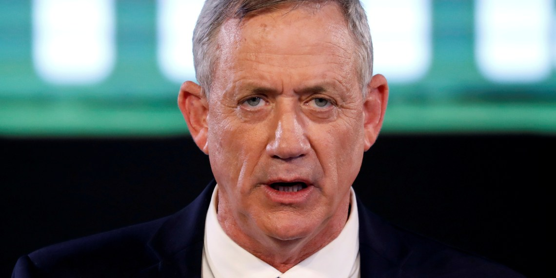 FILE PHOTO: Benny Gantz, a former Israeli armed forces chief and head of Israel Resilience party, delivers his first political speech at the party campaign launch in Tel Aviv, Israel January 29, 2019. REUTERS/Amir Cohen