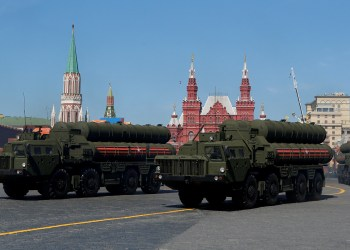 FILE PHOTO: Russian S-400 missile air defence systems on display during a parade marking the 73rd anniversary of the victory over Nazi Germany in World War Two, at Red Square in Moscow, May 9, 2018. REUTERS/Sergei Karpukhin/File Photo