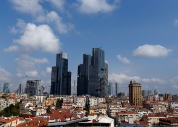 FILE PHOTO: Newly built business buildings are seen in Sisli district in Istanbul, Turkey, October 4, 2016. REUTERS/Murad Sezer/File Photo
