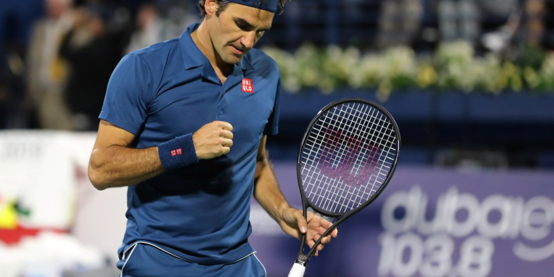 Tennis - ATP 500 - Dubai Tennis Championships - Dubai Duty Free Tennis Stadium, Dubai, United Arab Emirates - March 2, 2019 Switzerland's Roger Federer reacts during the Final against Greece's Stefanos Tsitsipas REUTERS/Ahmed Jadallah - RC1C698D7CF0