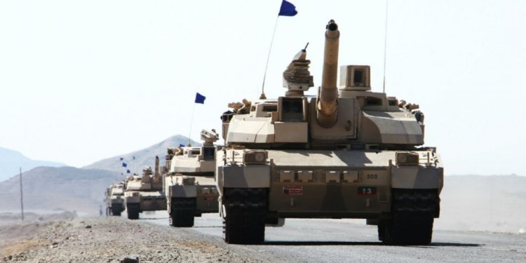 Saleh Al-Obeidi, AFP   French-made Leclerc tanks, pictured in Yemen's southern Dhubab district in January 2017, part of a Saudi-led coalition fighting Houthi forces in the war-torn country.