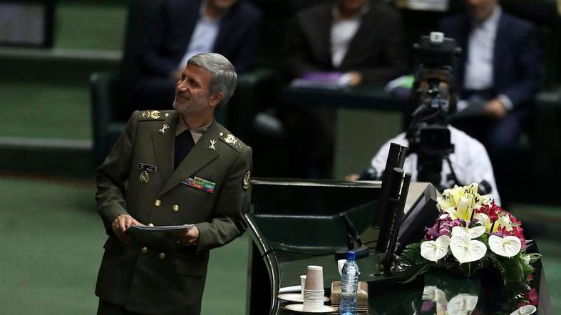 "Iranian Defense Minister Amir Hatami said: ""We will defeat the American-Zionist front."" (File photo: AP)"