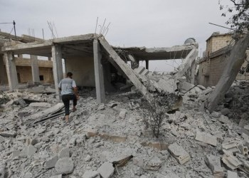 The village which the Syrian government recaptured, Kfar Nabudeh, is in the southwestern edge of Idlib. (File/AFP)